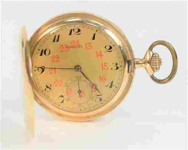 Novelty 14 Karat Gold Closed Face Pocket Watch, with