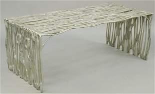 Arthur Court Saguaro Bench, cast aluminum 1970's,