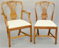 Set of Ten George III Style Mahogany Dining Chairs,