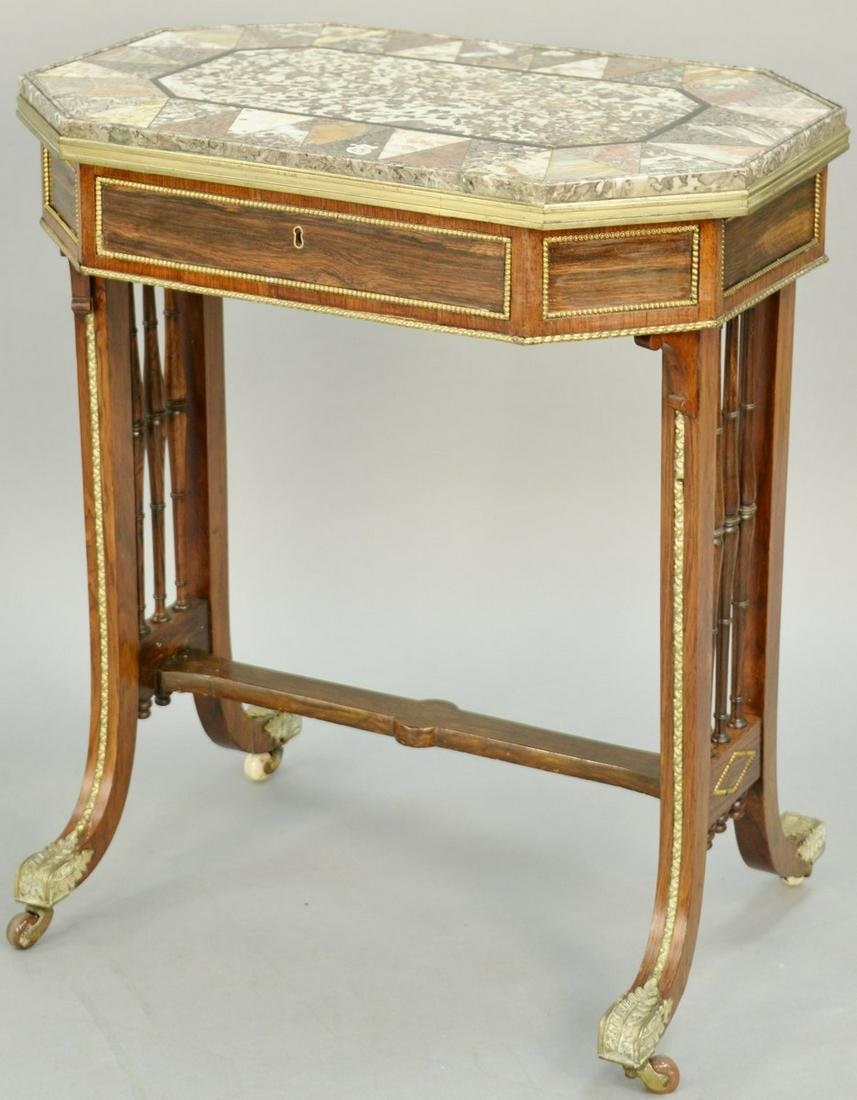 Regency Specimen Marble Occasional Table, attributed to