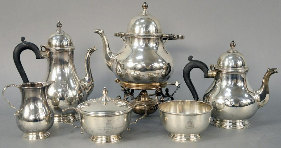 Tiffany and Company Six Piece English Silver Tea and