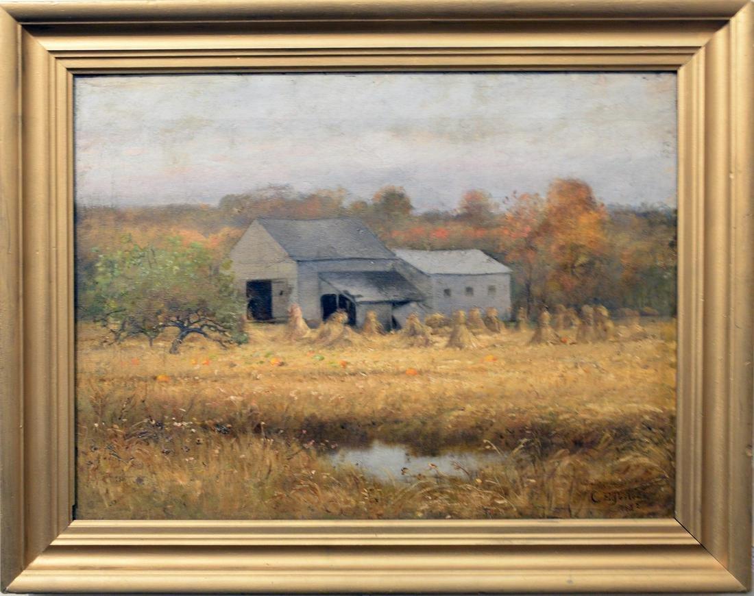 Charles Ethan Porter (1847 - 1923), landscape, oil on