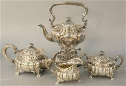 Howard and Company Four Piece Sterling Silver Tea Set