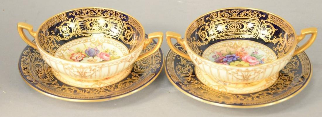 Twenty-four Piece Royal Worcester Porcelain Set, twelve