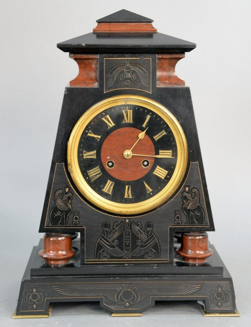 Tiffany and Company Egyptian Revival Mantel Clock,
