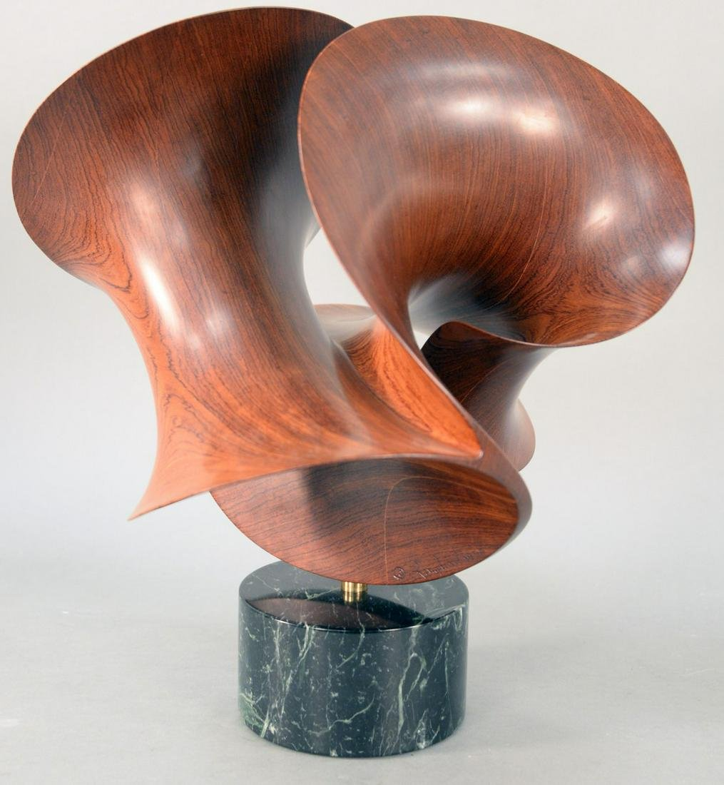 Robert Longhurst (B 1949), large arabesque XXV carved