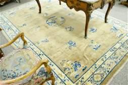 Peking Chinese Oriental Carpet silk and wool some