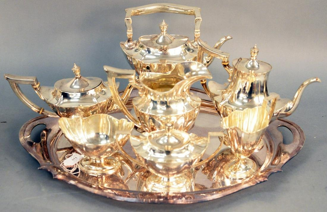 Seven Piece Gorham Sterling Silver Tea and Coffee Set,
