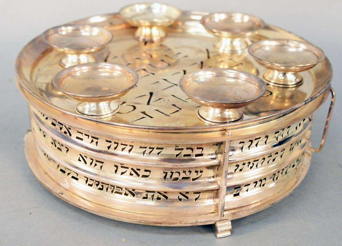 Ludwig Wolpert Judaica Sterling Silver Matzah Holder,
