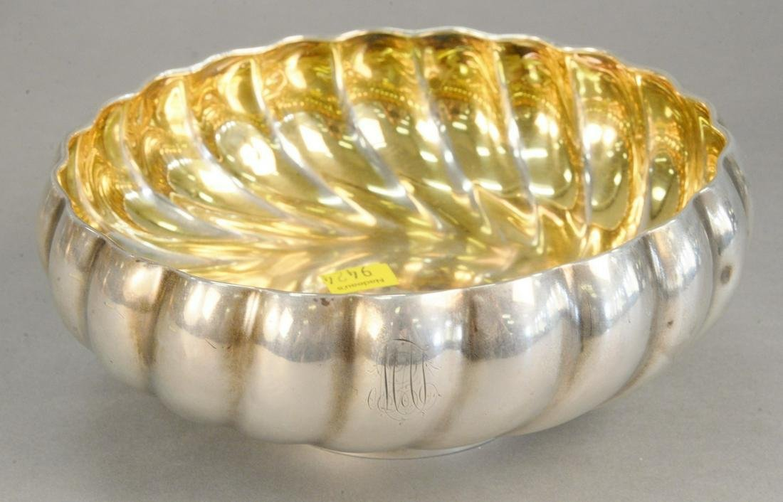 Sterling silver footed bowl, dia. 8 in., 16 t.oz.