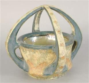 Amphora porcelain basket marked Amphora Austria 3905 h