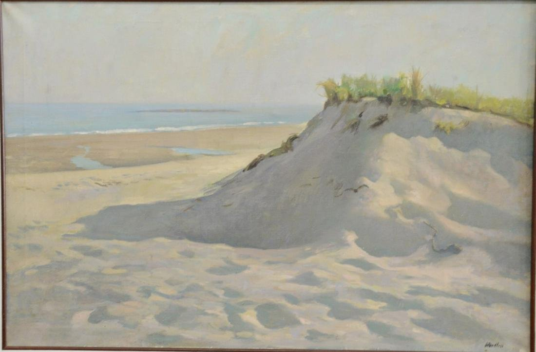 "Frank W. Handlen (b. 1916), oil on canvas, ""Beach"