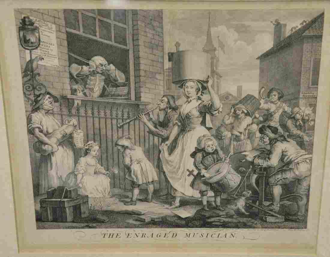 "William Hogarth, etching/engraving, ""The Enraged"