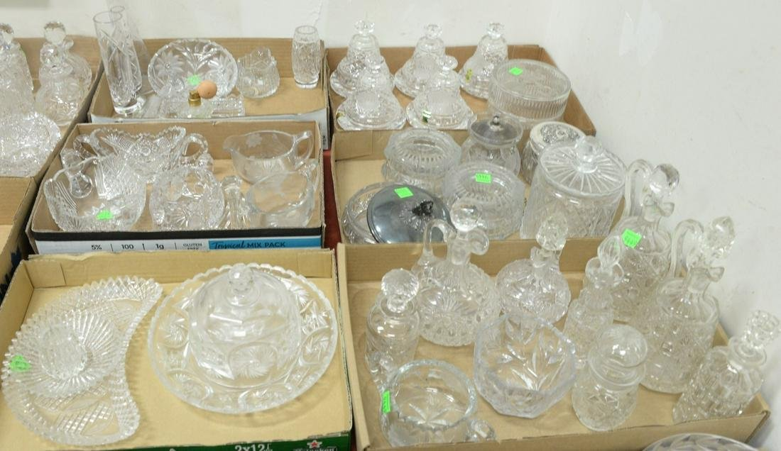 Six tray lots of cut glass, crystal to include