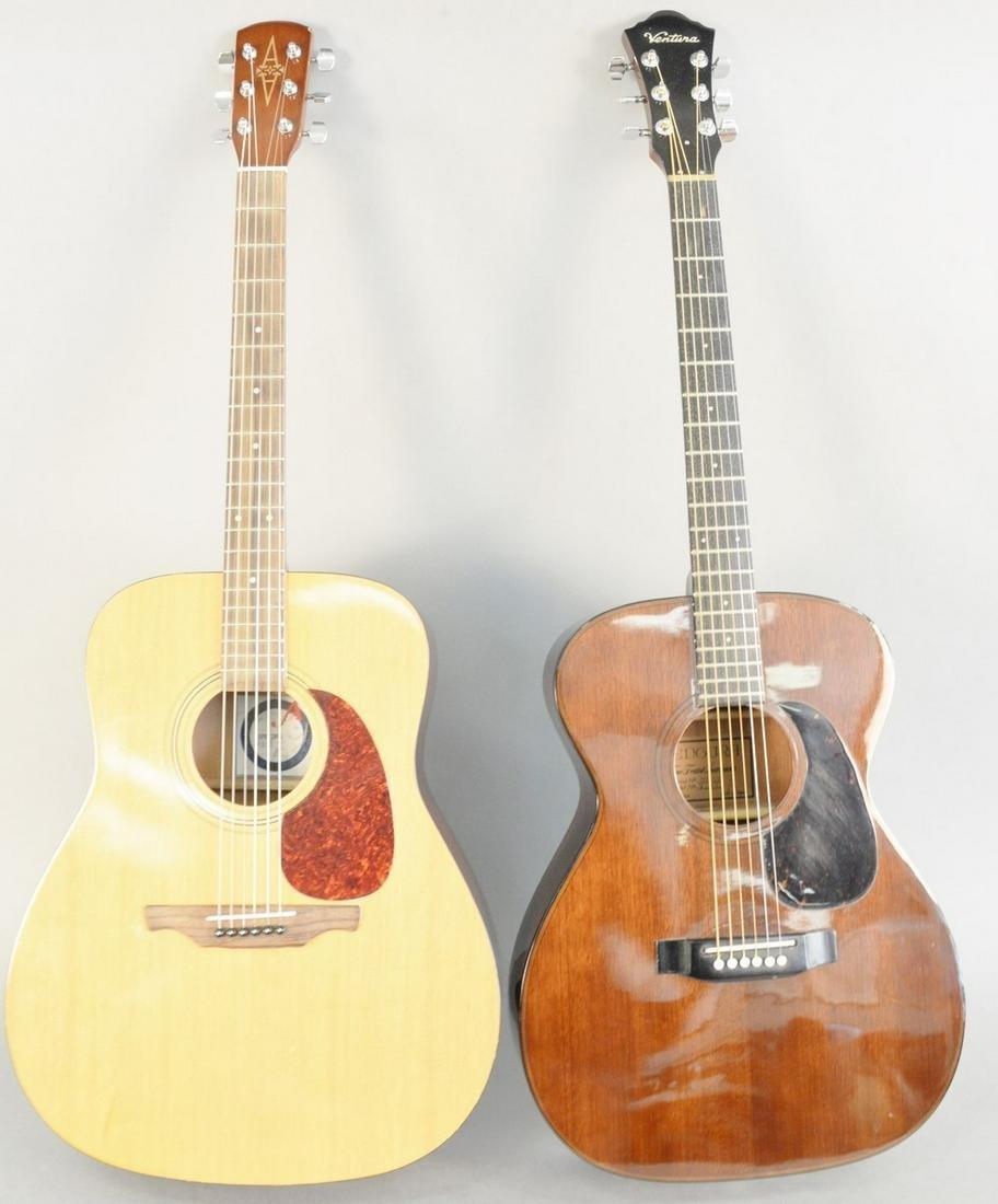 Two acoustic guitars, Ventura acoustic guitar, model