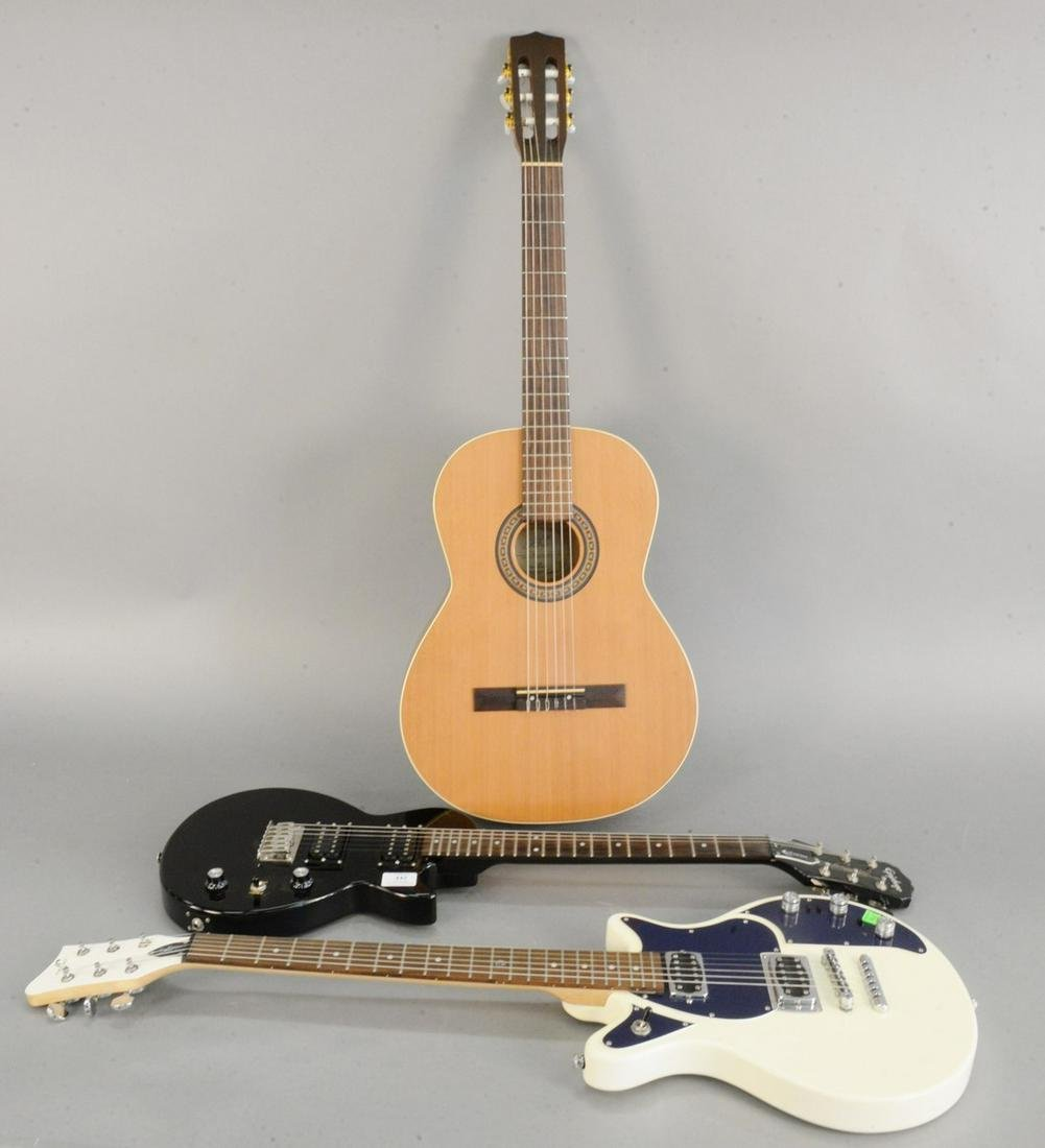 Three guitars, Godin acoustic guitar, La Patrie Etude,