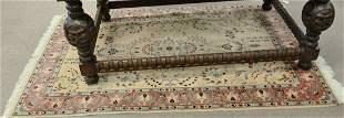 Oriental throw rug 4 x 67stain