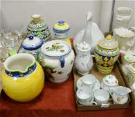 Large Group of Pottery & Porcelain, to include Tiffany,