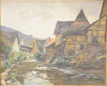 Franz Xaver Frankl 18811940 oil on canvas town