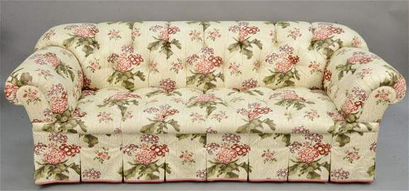 Chesterfield style sofa upholstered in a Chintz type of