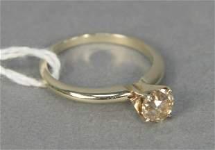 4 karat yellow gold and diamond engagement ring set