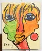 Peter Keil German b 1942 Old Man Warhol 1989