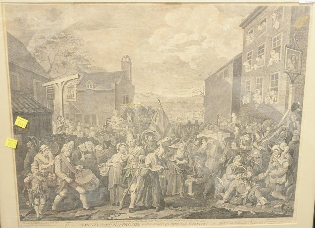 """William Hogarth copperplate engraving """"To His Majesty"""