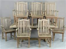 Barlow Tyrie eleven piece teak outdoor lot to include