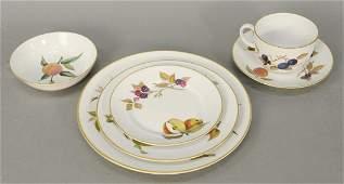 Royal Worcester Evesham 96 piece porcelain dinnerware