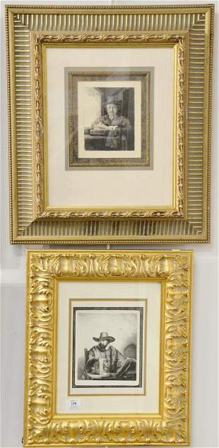 Three contemporary etching prints after Rembrandt