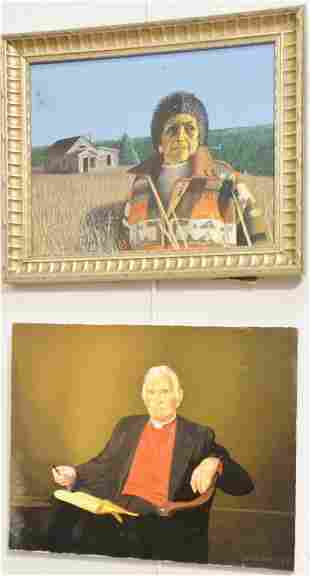 Two Von Hammill 20th21st C portraits to include