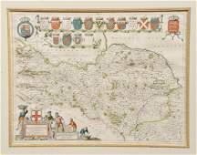 Joan Blaeu 1596  1673 Ducatus Eboracensis pars