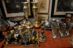 Large group of assorted metal items to include six