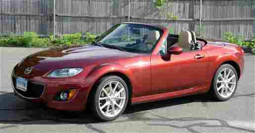 2012 Mazda MX5 Miata convertible, 4 cylinder, red with
