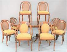 Nine piece mahogany dining room set to include oval