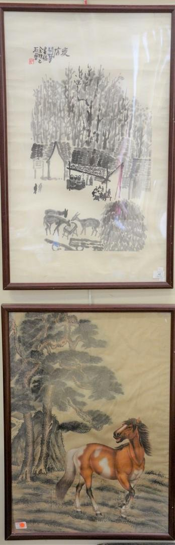 Eight piece lot to include group of five Japanese