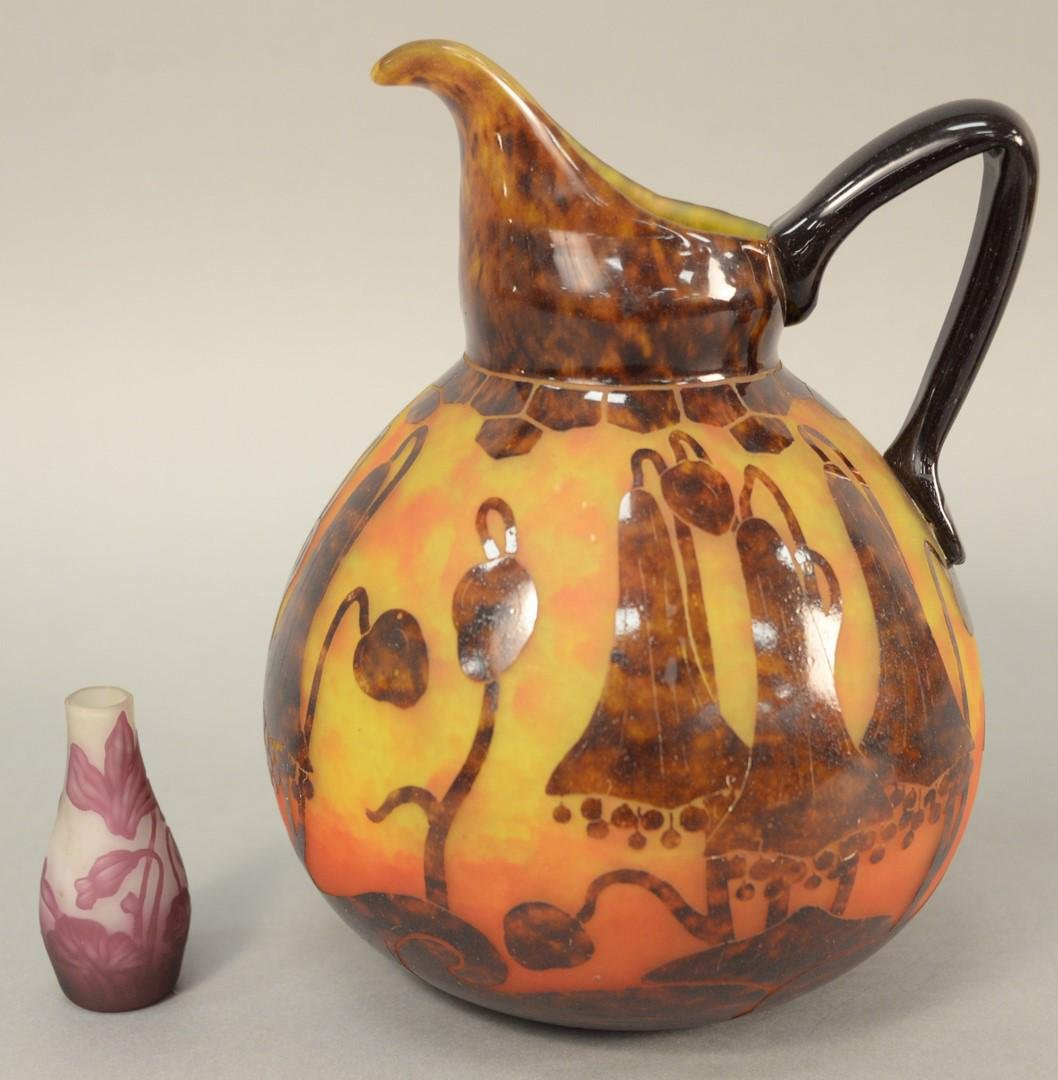 Two cameo art glass pieces to include small Charles