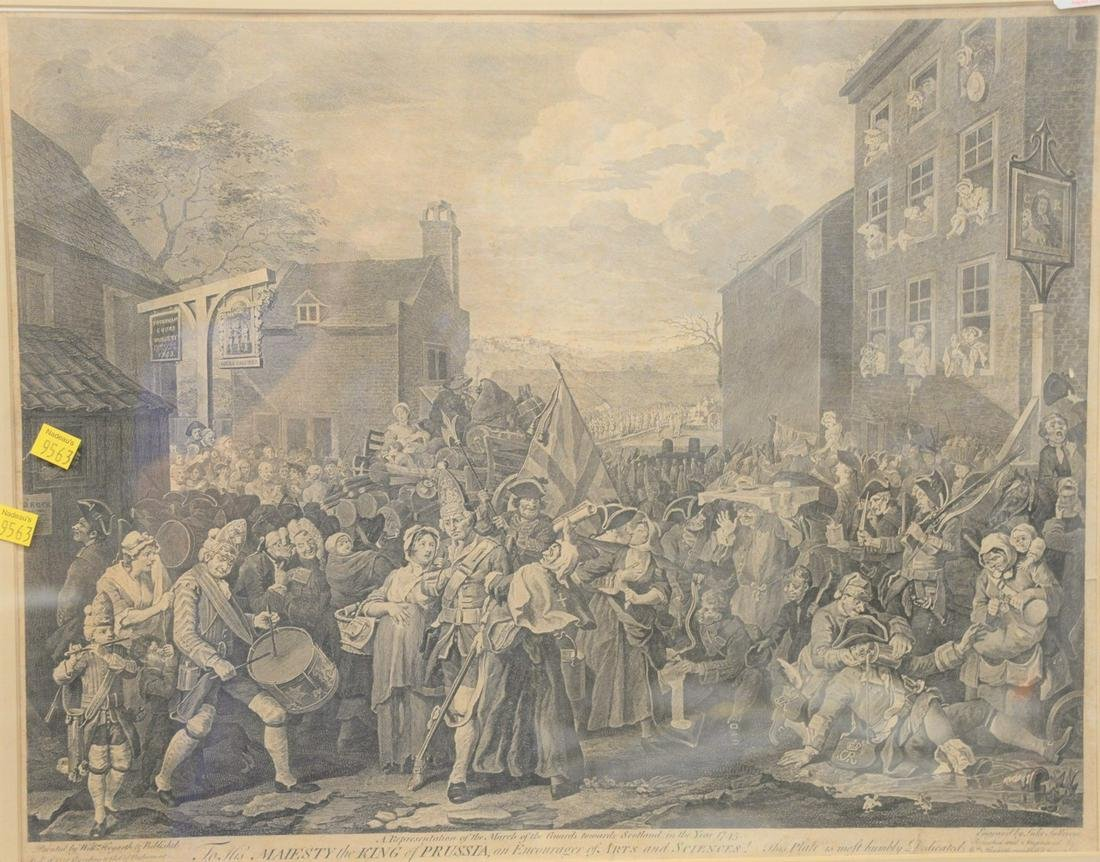 "William Hogarth copperplate engraving ""To His Majesty"