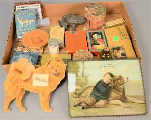 Tray lot with advertising and assorted collectibles to