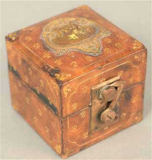 Leuthold Schuchmann inkwell having square leather