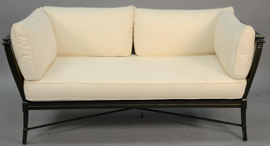 Richard Frinier for Century outdoor sofa with cushions,