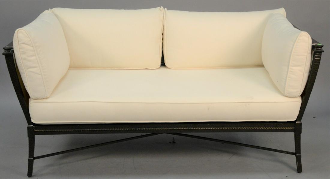 Richard Frinier for Century outdoor sofa with cushions,