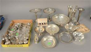 Three tray lots of sterling silver to include weighted