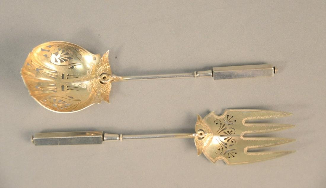 Pair of Gorham sterling silver serving articles, Isis