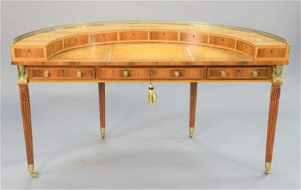 William Tillman half-round desk having three section