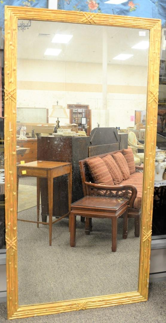 Giltwood mirror with two-part glass, rectangular mirror