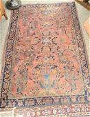 Two rugs to include Sarouk Oriental throw rug and