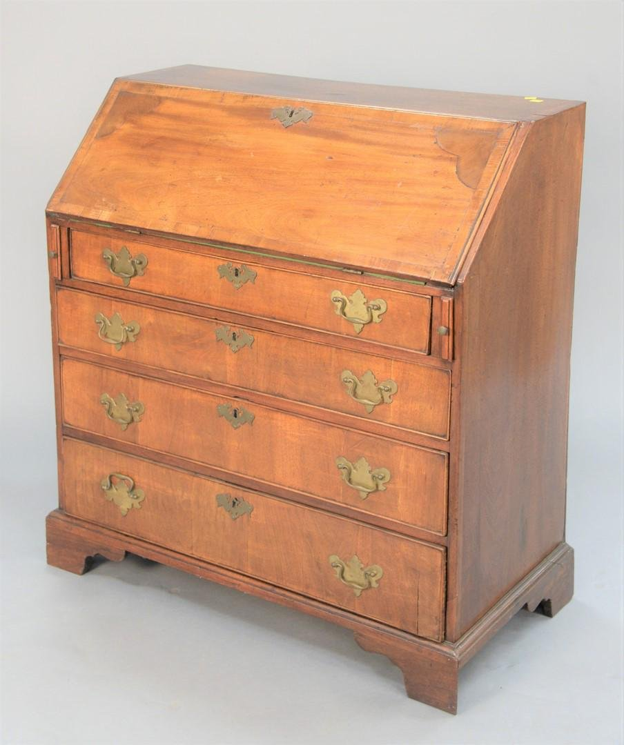 "George III mahogany slant front desk, c. 1780, ht. 39"","