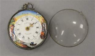 Sibley Fusee pocket watch w/ enameled face marked