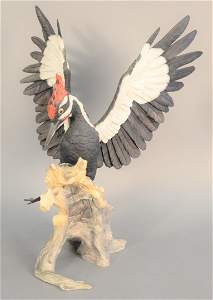 """Boehm """"Pileated Woodpecker"""", limited edition porcelain"""